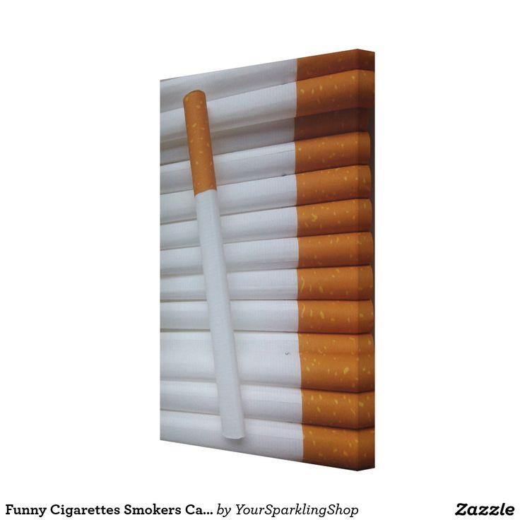 Funny Cigarettes Smokers Canvas