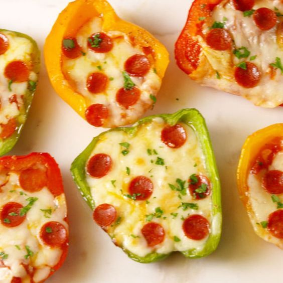 Low-Carb Is No Prob With Mini Pepper Pizzas  - Delish.com