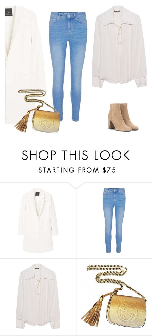 """""""Chic girl"""" by monika1555 on Polyvore featuring MANGO, Plein Sud, Gucci and Yves Saint Laurent"""