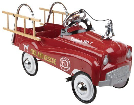 amazoncom instep fire truck pedal car childrens pedal ride ons toys