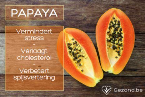 Papaya's verminderen stress! #fact
