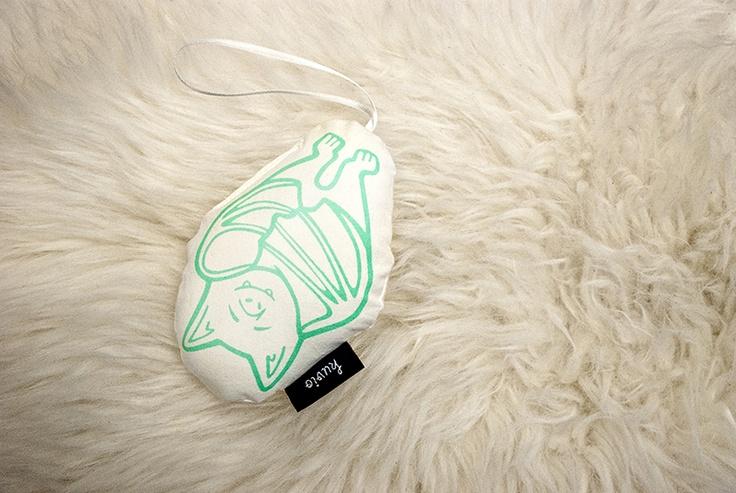 "Hand printed toy ""Uuno Uni"". 100% organic cotton. http://www.kuviokioski.com"