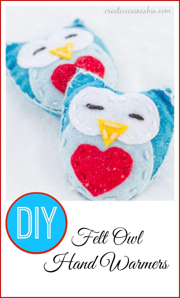 Owl crafts baby bedding nursery decor nursery crafts forward pink owl - Diy Felt Owl Hand Warmers