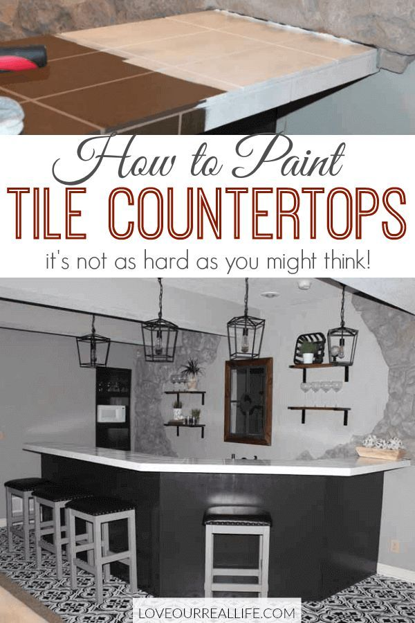 Kitchen Table Transformation Using Chalk Paint And Wood Stain Diy Home Decor And Crafts Tile Countertops Kitchen Tiles Diy Countertops