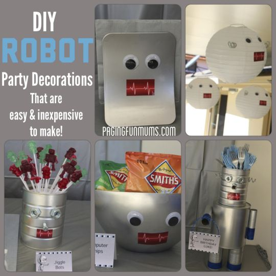 Robot Party Decorations