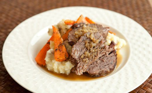 Epicure French Onion Pot Roast    Making this with deer roast (adding carrots, celery and maybe red wine)