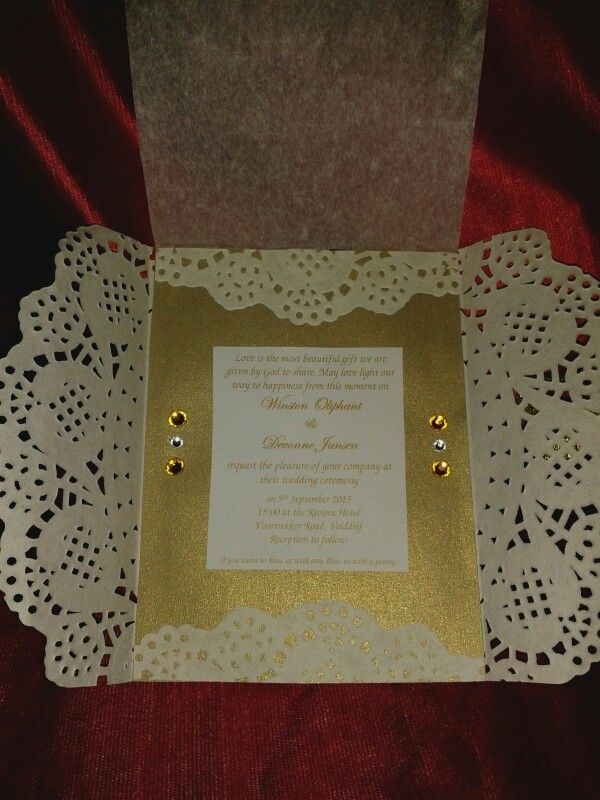 NLW Crafts paper Doily invitation
