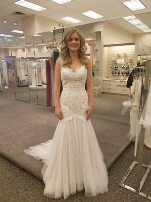 858719dc446b Beaded Venice Lace Trumpet Wedding Dress Style 4XLSWG723, Solid White, 12 |  Dream Dress | Wedding dresses, Dresses, Wedding gown preservation