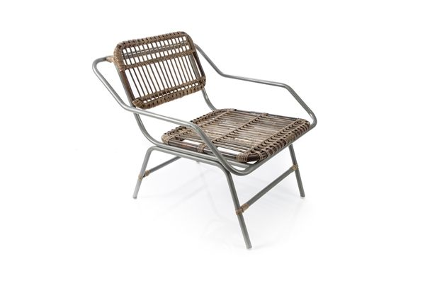 Casa Uno Rattan Armchair Furniture With Metal Legs Natural - New