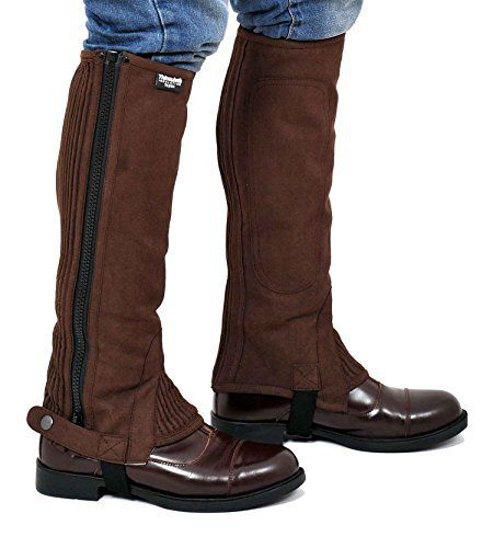 Riders Trend  Amara Half Chaps  with Thinsulate Lining Extremely Durable Microfibre Washable Amara Synthetic SuedeStrong Quality YKK ZippersElasticated Panel for a Snug Fit & to Fit Different Calf SizesRT-Branded Press StudsFeet Elastic Strap  BOOTS, footwear, high heels, SHOES, Slippers, wellington boots