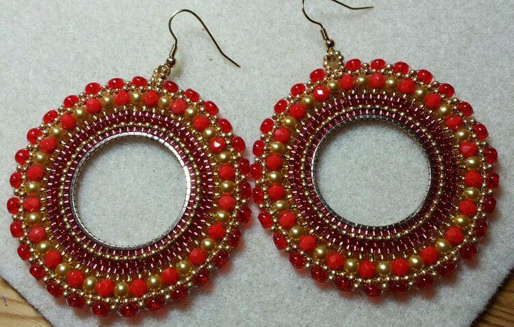 Grote ringen rood/goud