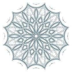 Snowflake Coloring Page 9