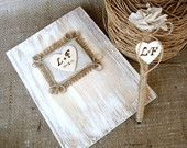 Rustic Wedding Guest Book Wedding Vows Book with Rustic Pen Personalized