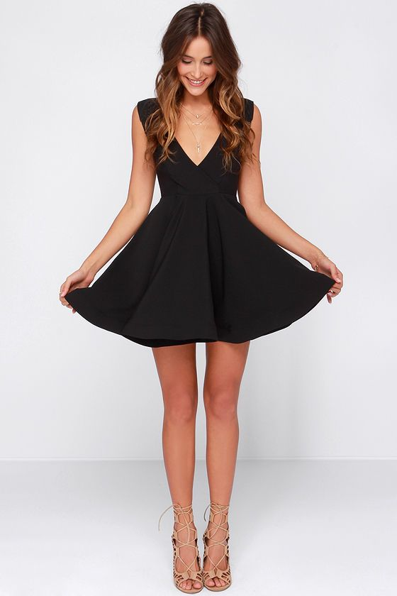25  best ideas about Black skater dresses on Pinterest | Cute ...