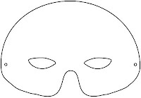 Mask printable - mardi gras kids activity