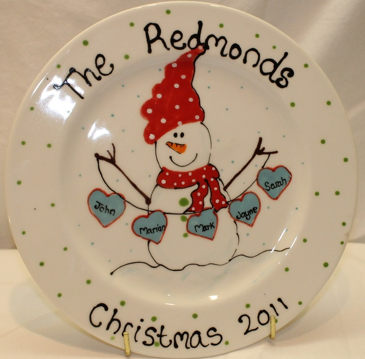 Image detail for -Family Plate  sc 1 st  Pinterest & 250 best Pottery painting - christmas images on Pinterest ...