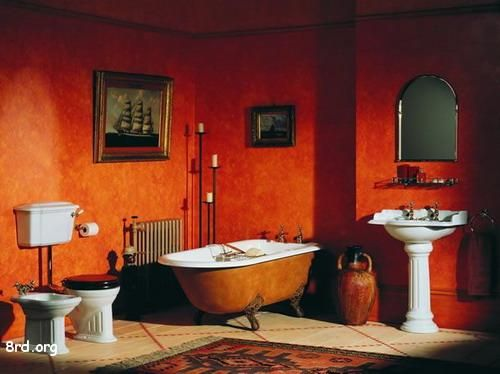 dark orange for Italian room - The Giovanni.  Would go good with golden bedroom - what color would ceiling be?
