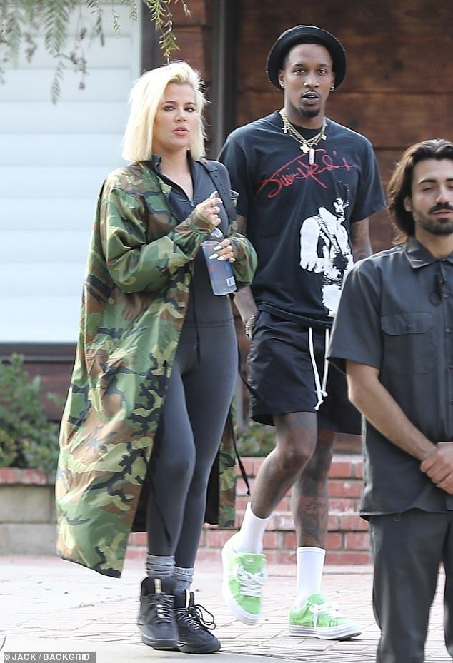ca6c88a48185 Khloe and Kourtney Kardashian attend brother-in-law Kanye West s Sunday  Service in LA