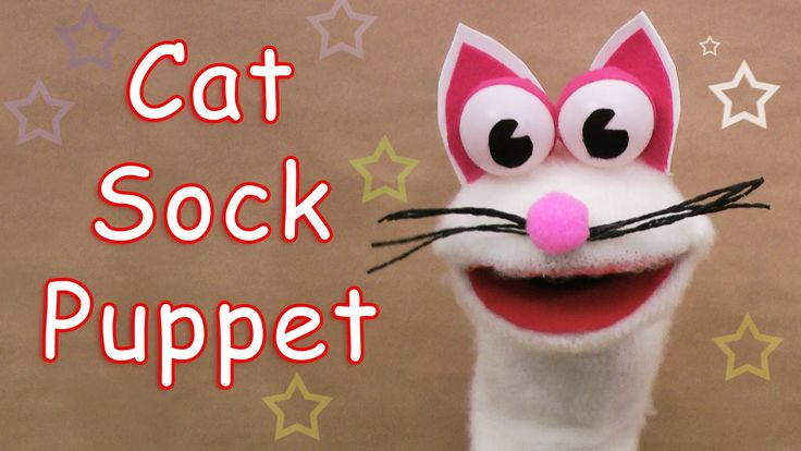 How to make a Cat Sock Puppet - Ana | DIY Crafts Download the pattern by clicking this link: http://anadiycrafts.com/cat-sock-puppet/ Site: http://anadiycraf...