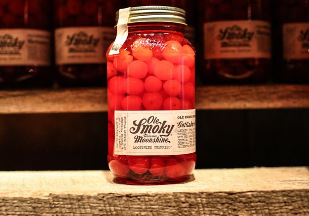 "Ole Smoky Moonshine Cherries. A ""must try"" for anyone who visits Ole Smoky Moonshine Holler in Galtinburg, TN."