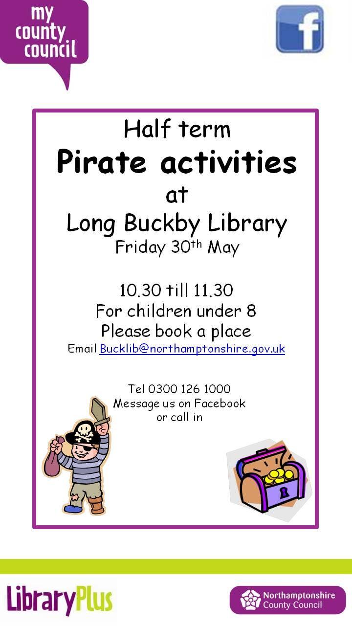 Pirate Activities at Long Buckby Library Friday 30th May