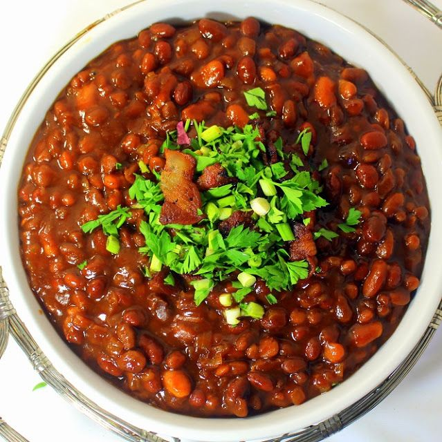 Sweet Root Beer Baked Beans in A Crock Pot - Church PotLuck Side Dish ...