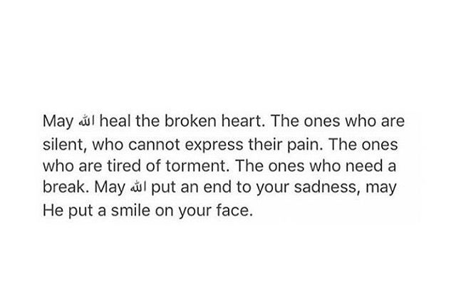 May Allah (swt) put an end to your sadness, may He put a smile on your face. Ameen.