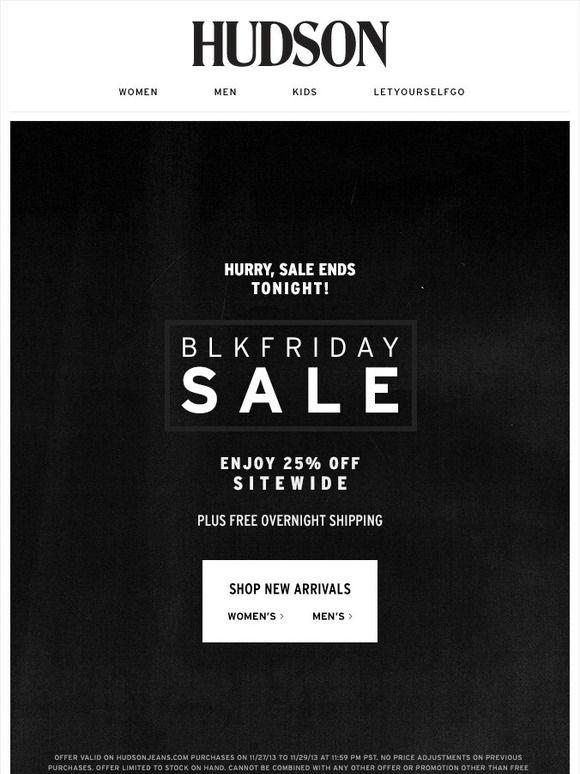 The Black Friday Sale - Enjoy 25% off Sitewide - Hudson Jeans