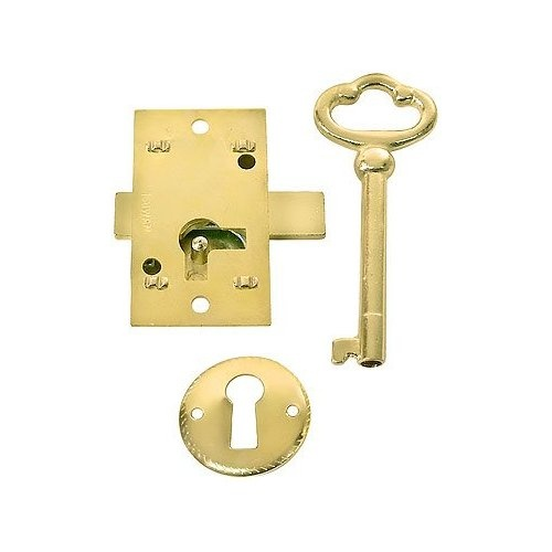 Cupboard Locks Small Brass Plated Non Mortise Cabinet Lock Officeness