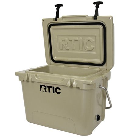 RTIC 20 person cooler - Mojave Tan. Great cooler. Use it all the time. It keeps ice for ever. 5 of 5