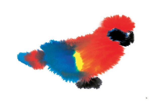 Dutch Illustrator Rop Van Mierlo's Charming Rorschach-Like Wash Paintings of Wild Animals | Brain Pickings
