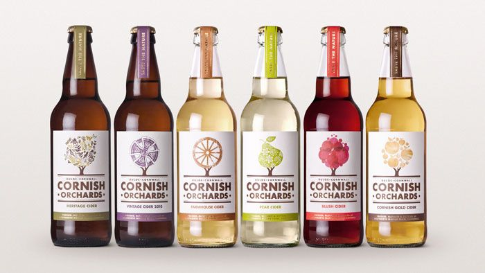 Cornish Orchards: Design Inspiration, Graphic Design, Package Design, Packaging Design, Fresh Juice, Bottle, Orchards Cider