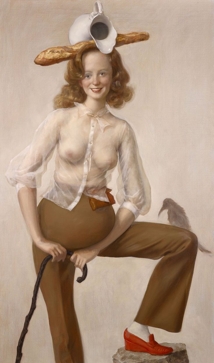 John Currin, 'Red Shoe', 2016