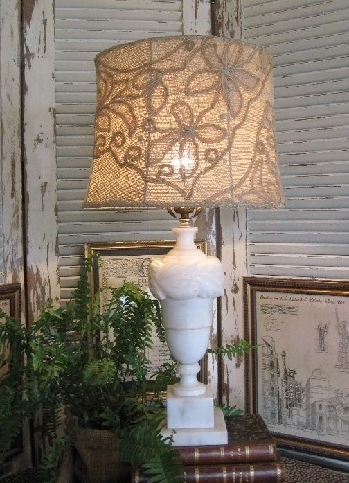 Style Shabby lampshades made of lace and doilies - The Italian blog on the Shabby Chic and beyond