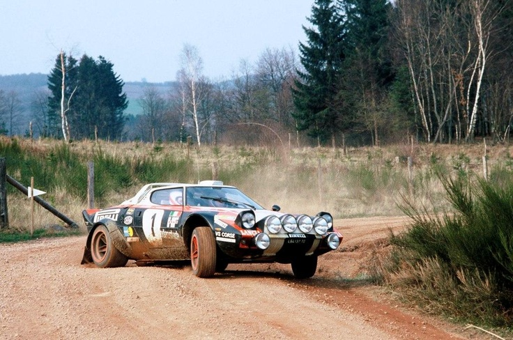 Lancia Stratos. Rally race car.