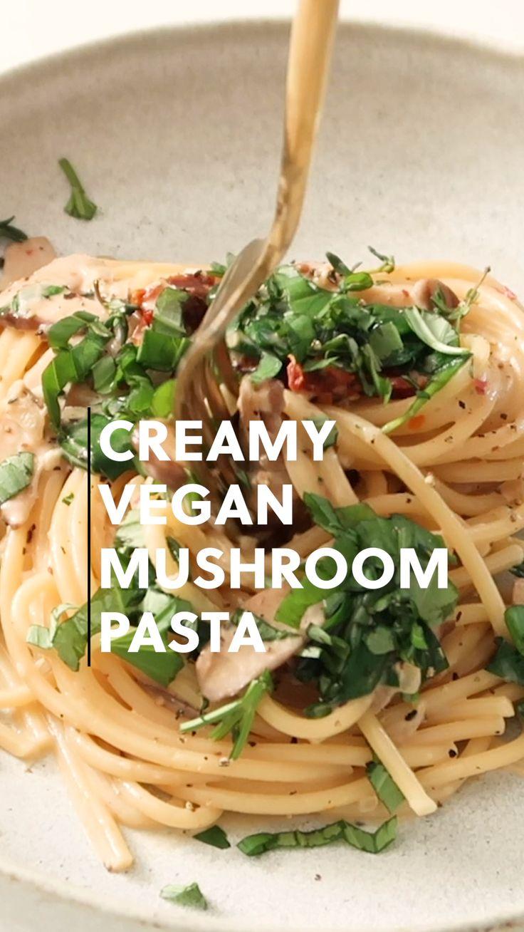 Healthy Vegetarian Recipes, Vegetarian Pasta Recipes, Vegan Dinner Recipes, Vegan Foods, Vegan Dishes, Veggie Recipes, Whole Food Recipes, Healthy Eating, Cooking Recipes
