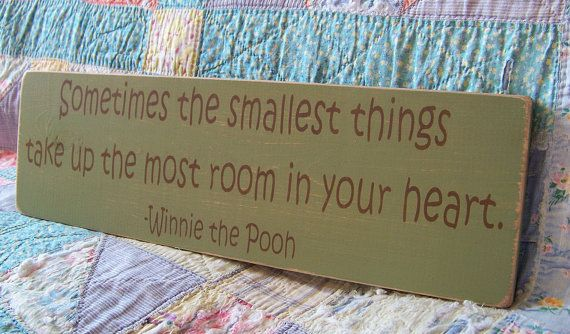 Classic Winnie The Pooh Nursery Decor Wood Sign by primsnposies, $20.00