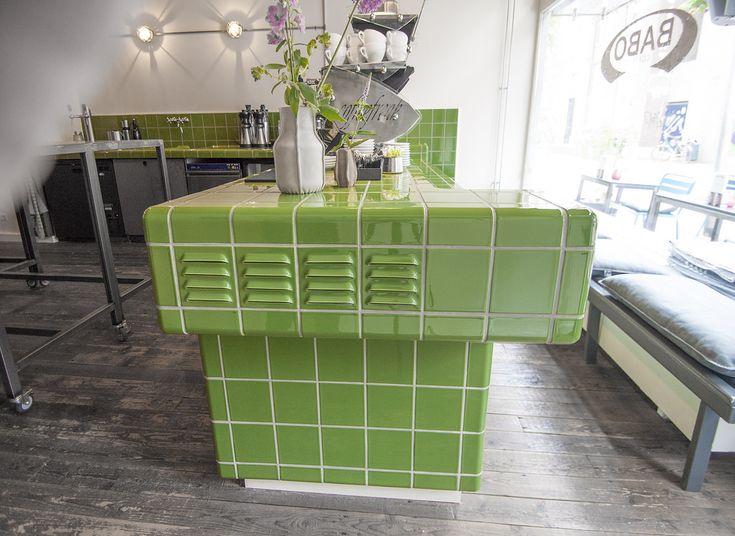 green dtile tiles at babo coffee arnhem green dtile tiles at babo coffee
