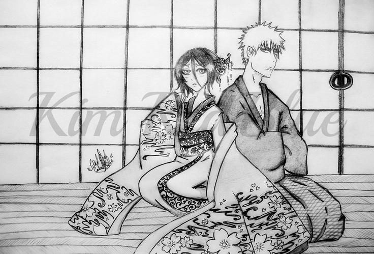 Lycoris Radiata  Hace tiempo que comencé a leer una historia en fanfiction de una chica llamada Irenth, usa a los personajes de BLEACH manga japonés que adoro y realmente es muy buena, por lo que dibuje a la pareja principal, el detallado del kimono fue pesado pero el resultado es hermoso!  Dejo el Link de la historia por si se animan a leerla. http://www.fanfiction.net/s/5266705/1/Lycoris-Radiata