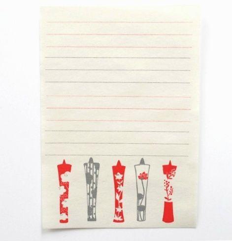 letter 星燈社 ざらざら紙のレターセット 和ろうそく