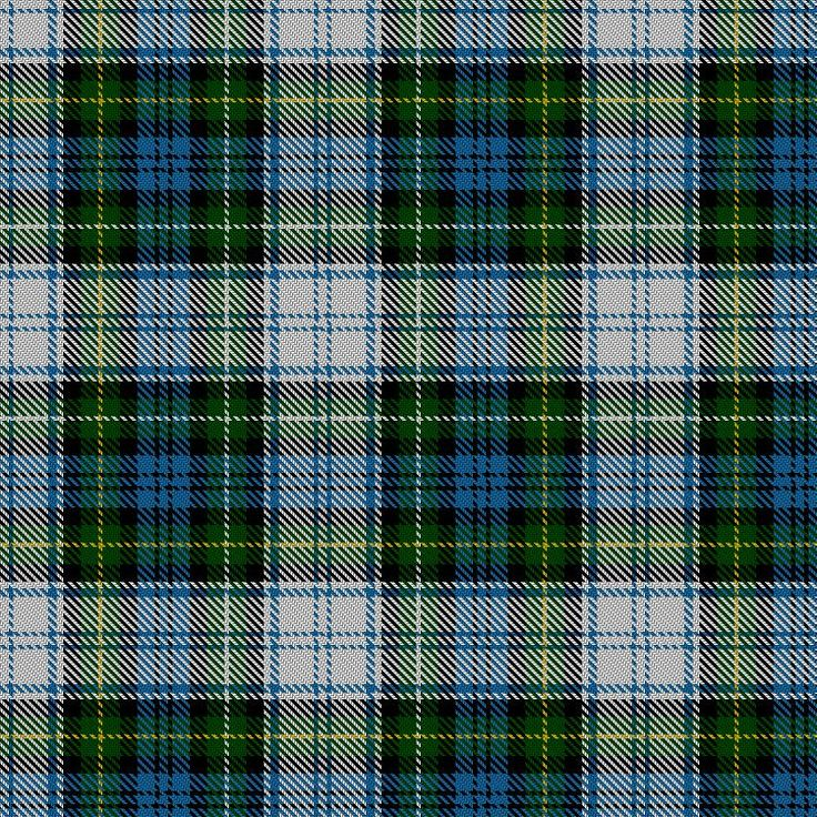 Tartan image: Campbell Dress. A dress version of the Campbell tartan first appeared in the Clans Originaux of 1880 - a tartan pattern book produced by a Parisian company called J Claude Freres et Cie. The 12th Duke refused to accept it as an official Campbell tartan.