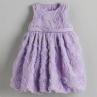 Girl's Floral Taped Mesh Bubble Dress- WonderKids...LOVE