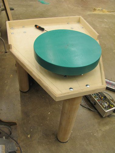 Build your own wheel from treadmill parts... Wow, check out the instructable @ http://www.instructables.com/id/Pt-1-How-to-build-a-potters-wheel-with-a-treadmil/?ALLSTEPS#