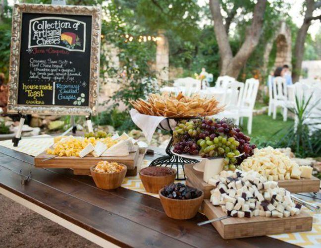 Una deliciosa mesa de quesos para botanear...