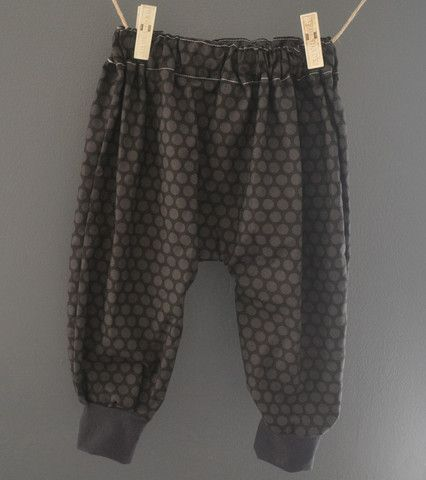 Grey dots Harem Pants