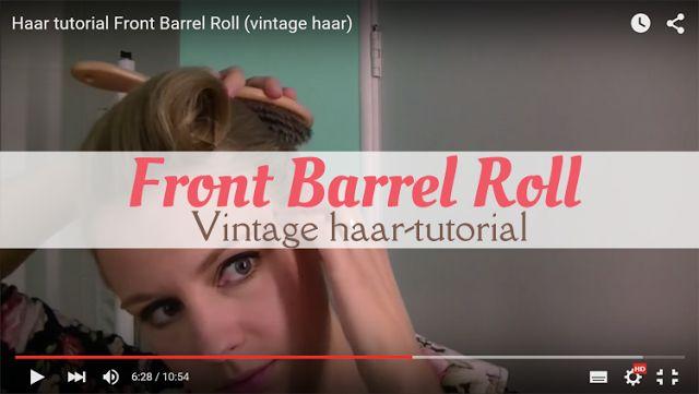 MizFlurry: Vintage haar: Front Barrel Roll (video). In deze video laat ik zien hoe je een Front Barrel Roll en een Grace Kelly Roll maakt met je haar. Een leuke vintage haarstijl voor iedere dag of juist voor een feestje. Je kunt hem stylen met een bandana of een bloem.