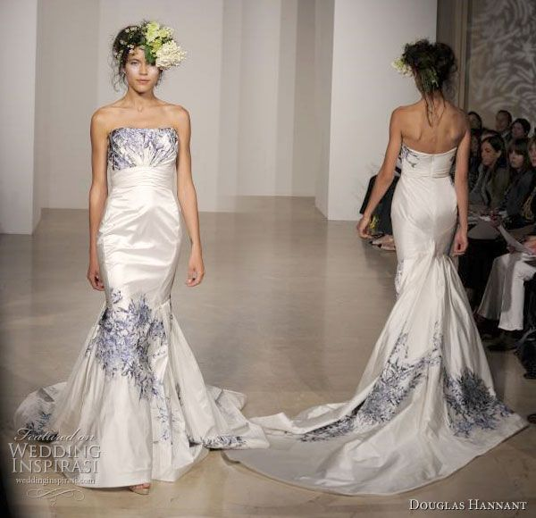 Beautiful Wedding Gowns With Pretty Feminine Details From Douglas Hannant 2011 Bridal Collection Above
