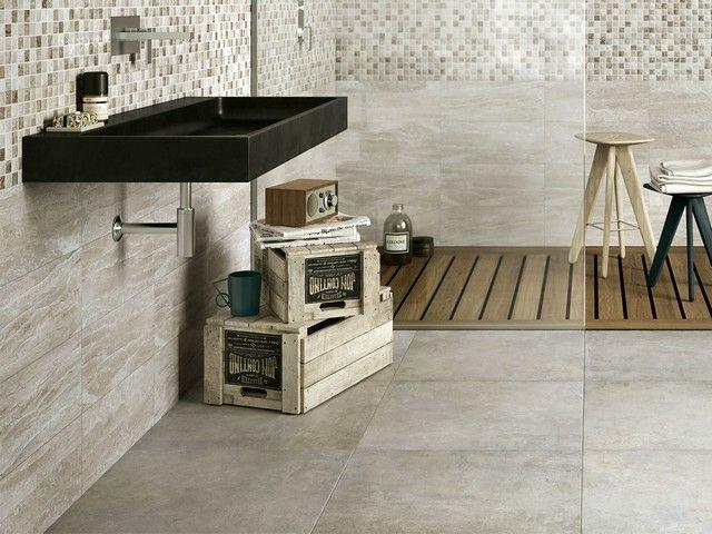 Rivestimento bagno effetto marmo tivoli iperceramica - Rivestimento bagno gres porcellanato ...