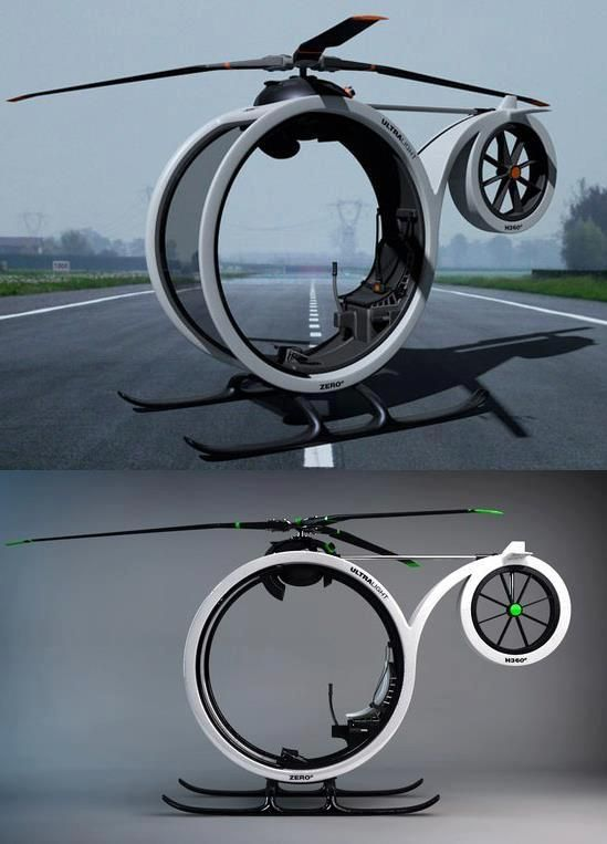 """ZERO"" Amazing Ultramodern Personal Helicopter 