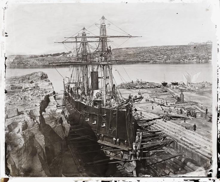 French warship 'Atalante', Fitzroy Dock, Sydney, 1873